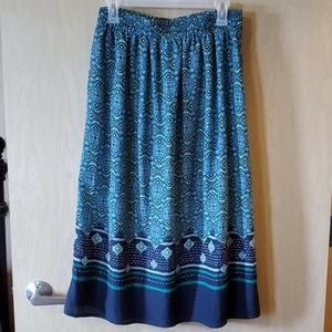 Christopher & Banks Skirts - NWOT Green and Blue A-line Skirt